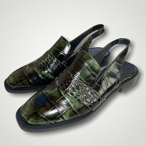 NEW Free People Abbey Road Slingback Croc Loafer